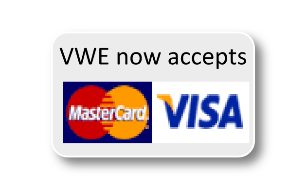 VWE now accepts all major credit and debit cards